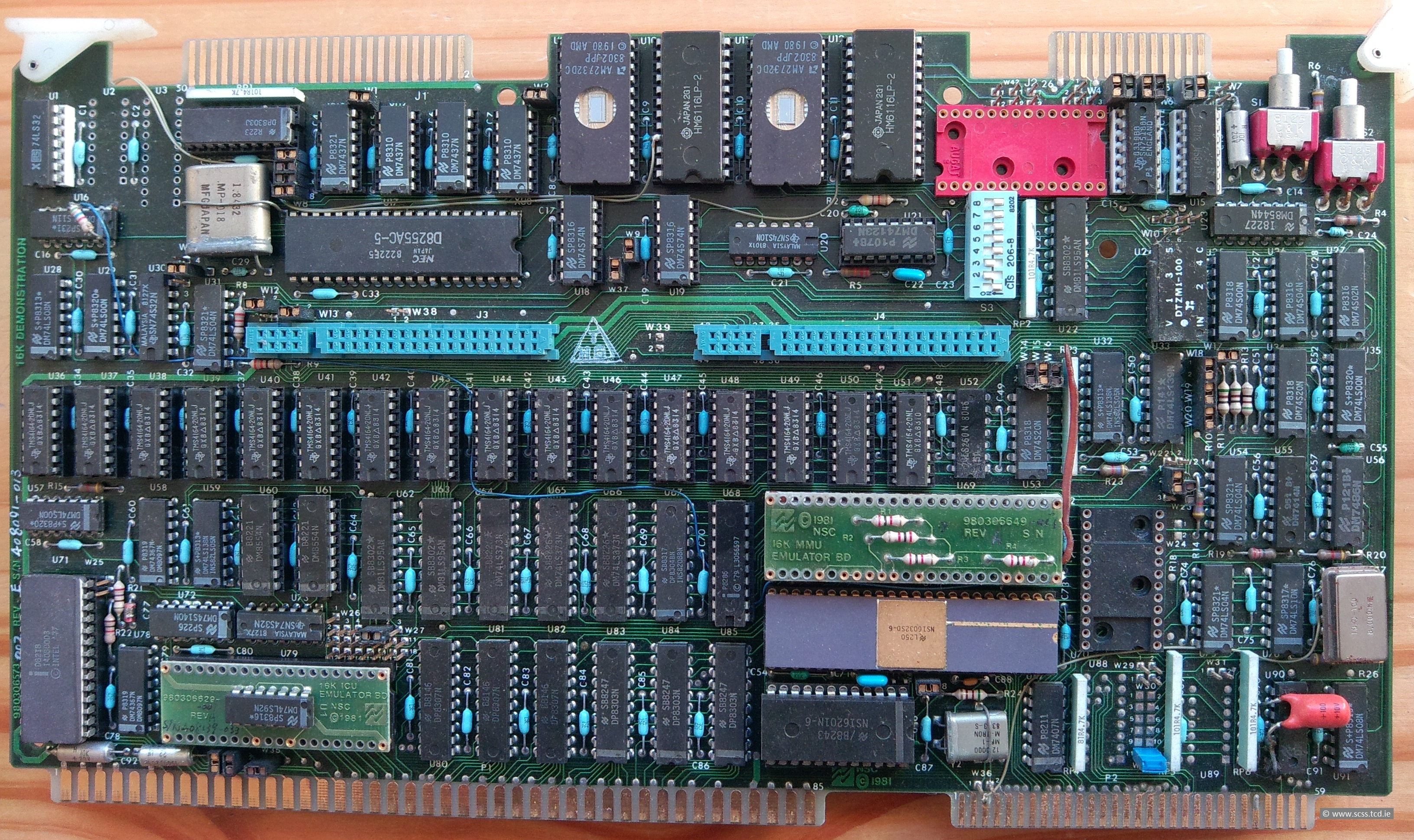 The Web Site To Remember National Semiconductors Series 32000 Family What Is A Circuit Board Used For Multibus Standard An Easy Integration In Existing Equipment 128 Kbytes Of Dram Memory U36 U51 And 4 Sockets Eproms Am2732
